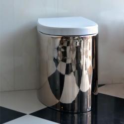 Порцеланова тоалетна чиния - стояща - платина - Серия Зефиро