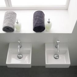 Квадратна порцеланова мивка за баня / Серия Теорема