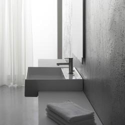 Мивка за плот в бял цвят / Серия Теорема