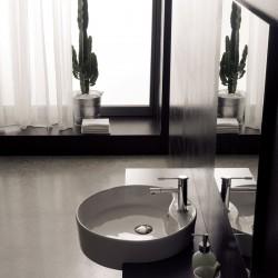 Кръгла мивка за полувграждане в плот / Колекция Гео