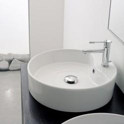 Порцеланова кръгла мивка с отвор за смесител / Колекция Гео