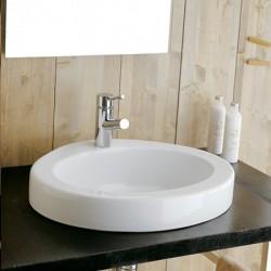 Плоска мивка за баня с овална форма