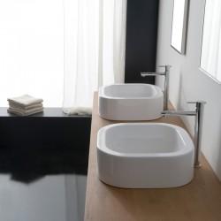 Порцеланова мивка за баня в бял цвят