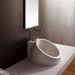 Порцелова мивка за плот в нестандартна форма