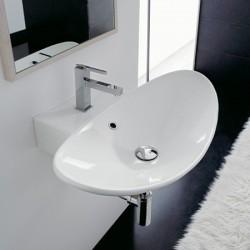 Бяла порцеланова мивка за баня тип купа / Колекция Зефиро